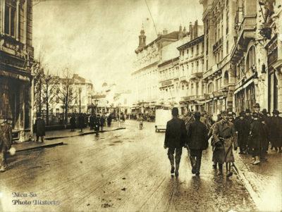 Calea Victoriei acum 100 de ani