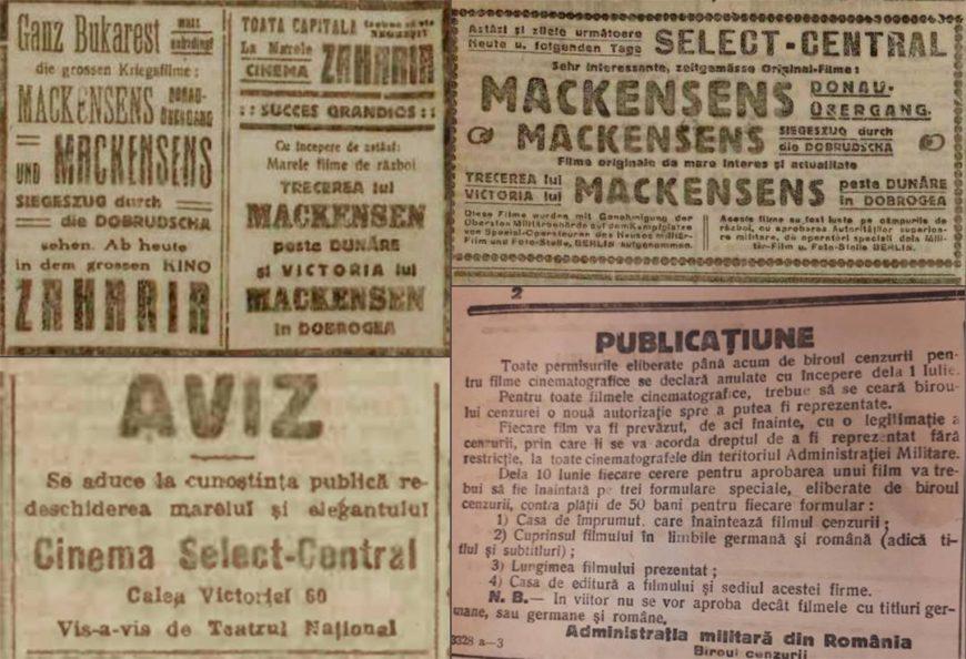 1916-1919, Cinematografia ca mijloc de propagandă