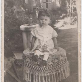 Maria Roman, la vârsta de 2 ani