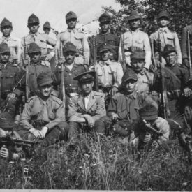 Portret cu grup de soldați