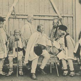 Țărani bătrâni din Poiana Sibiului